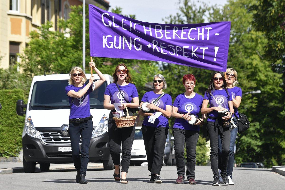 اعتراض زنان سوئیس: درخواست دستمزد و حقوق برابر با مردان