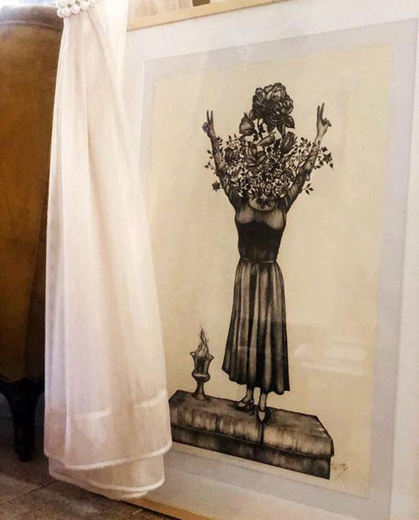 نقاشی صابر ابر از دختر آبی