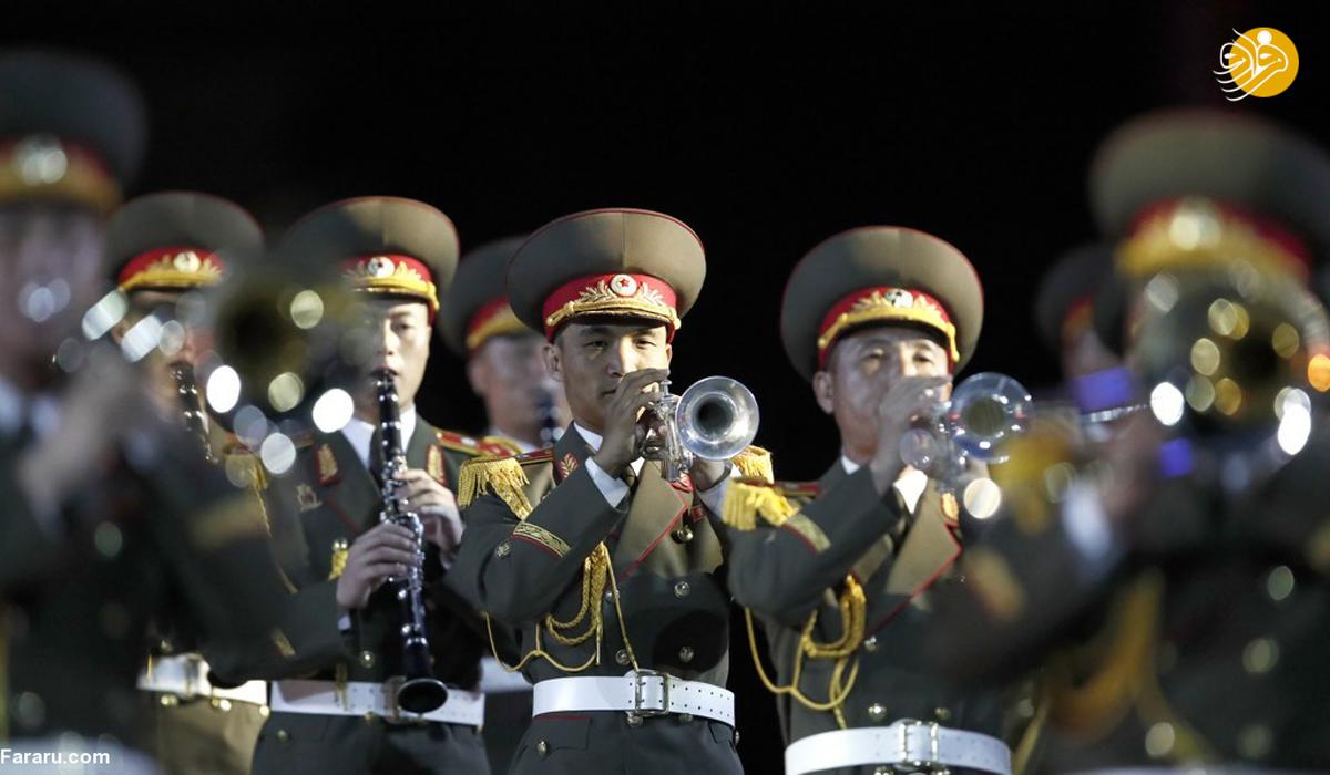 زنان نظامی کرهشمالی در جشنواره موسیقی