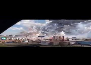 لحظه انفجار در بزرگترین کارخانه فشفشه سازی ترکیه + ویدئو