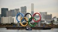 المپیک | ژاپنی ها بنای پنج حلقه المپیک را برداشتند