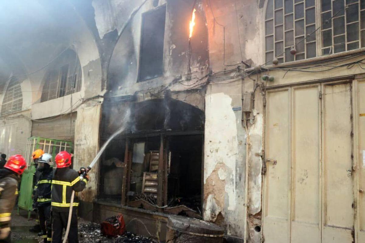 آتشسوزی در بازار تاریخی اصفهان خسارتی نداشت