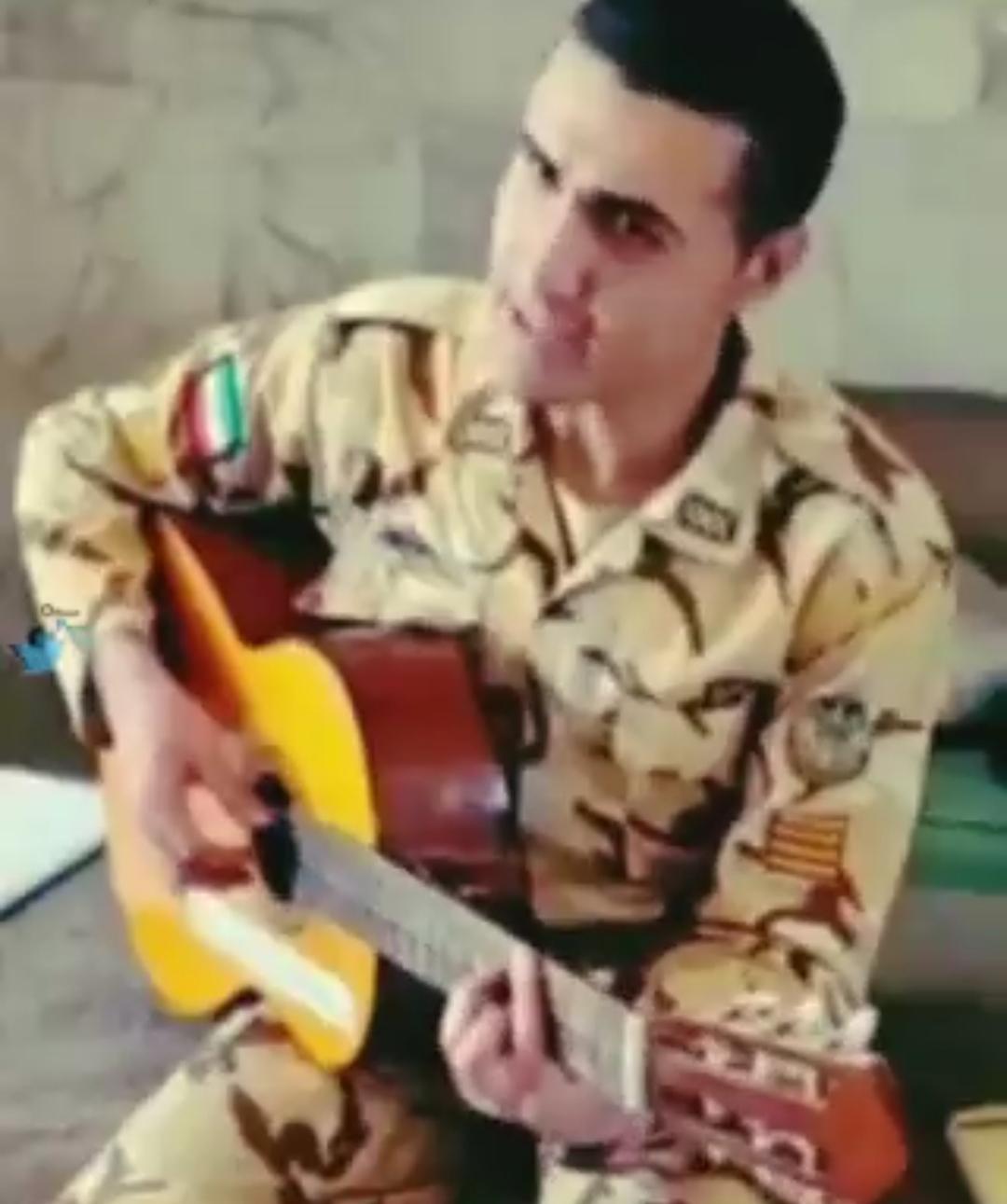 خوانندگی یک سرباز وطن + ویدئو