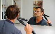 ابداع و روشی خلاقانه برای اصلاح مو در قرنطینه خانگی +عکس