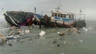 سرنشینان شناور غرق شده گناوهای در خلیج فارس نجات یافتند