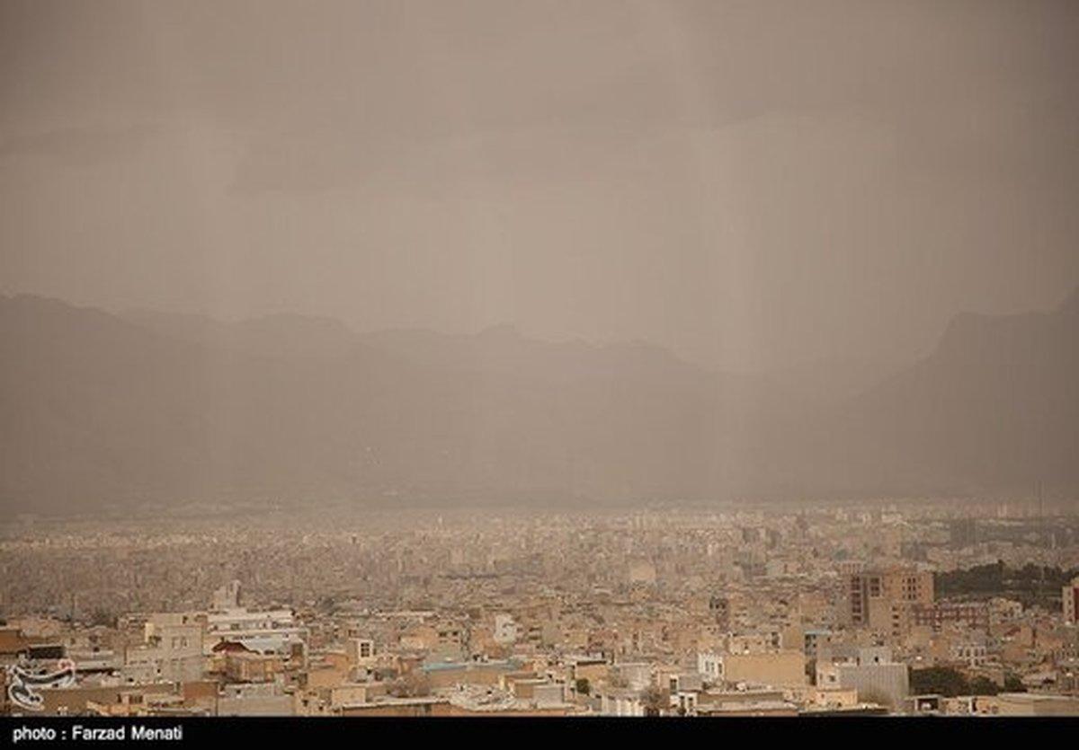 آلودگی هوای تهران با گرد و خاک
