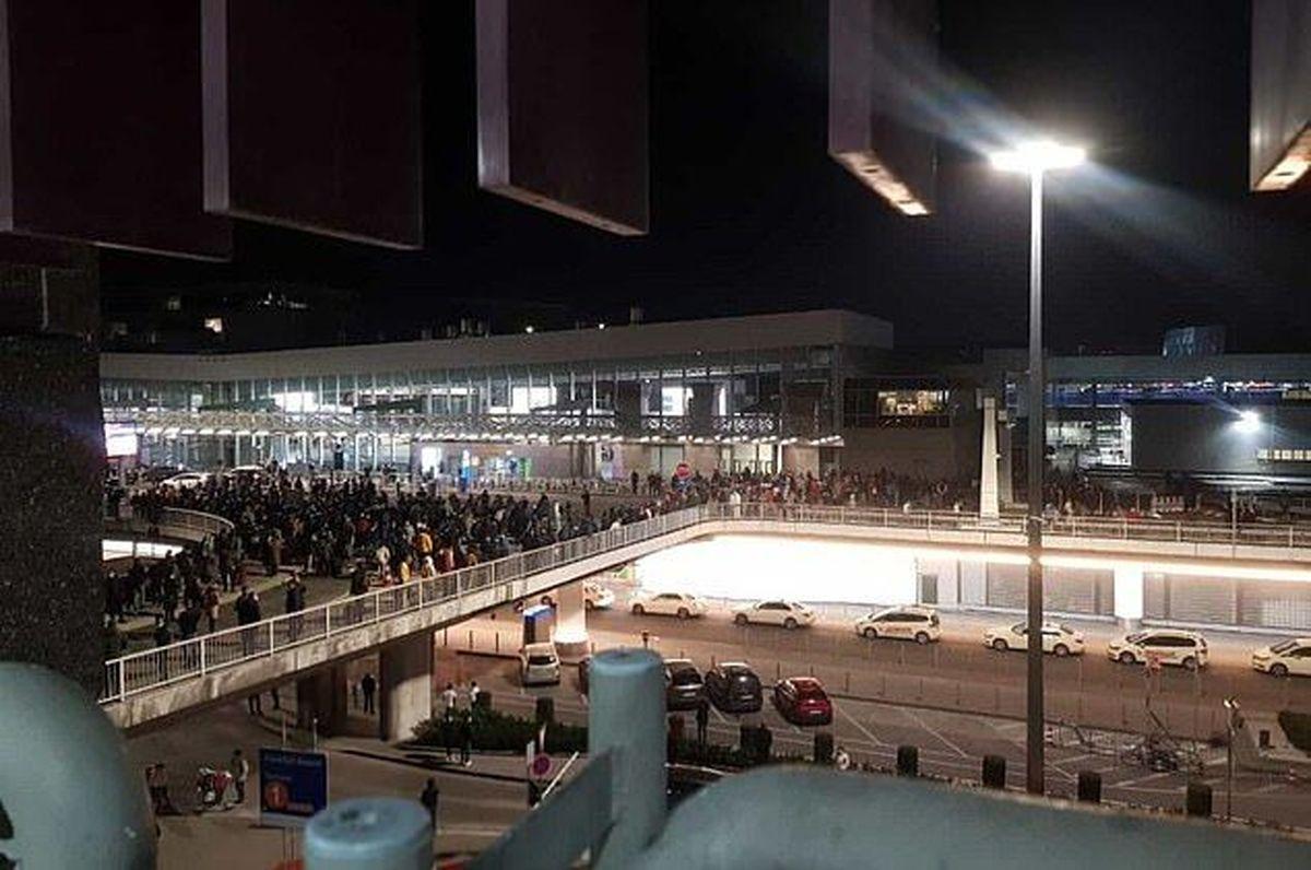 بخشهایی از فرودگاه فرانکفورت تخلیه شد