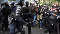 پاریس صحنه درگیریهای شدید بین پلیس و معترضان همزمان با روز کارگر