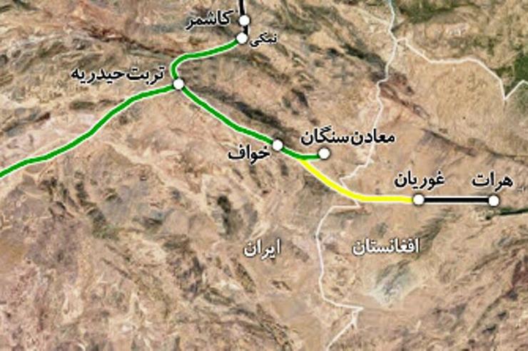 راه آهن خواف - هرات ۲۰ آذرماه افتتاح میشود