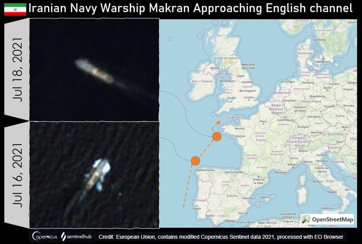 دو کشتی جنگی ایرانی به سواحل بریتانیا رسیدند  + عکس