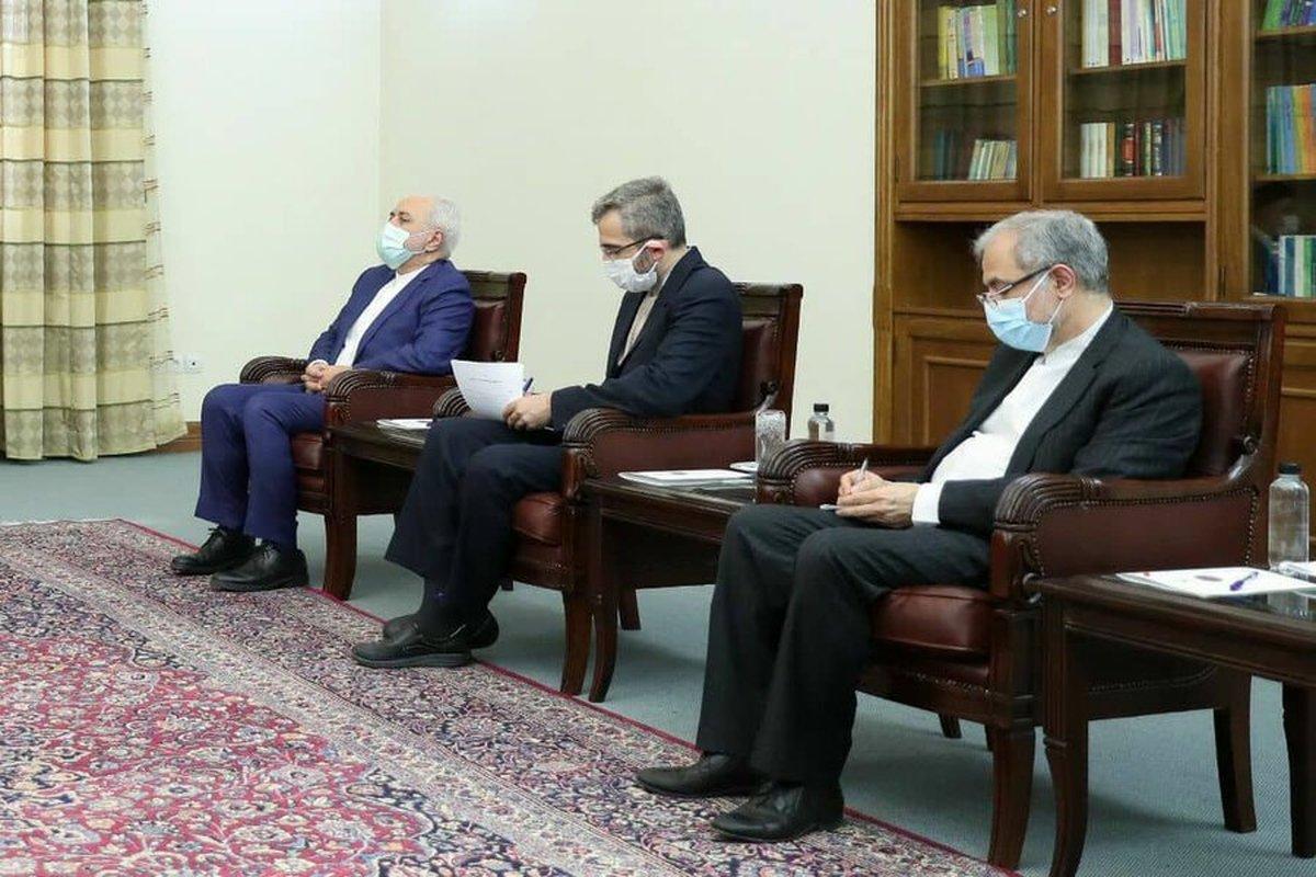 حضور علی باقری و ظریف در دیدار رئیسی و وزیرخارجه هند +عکس