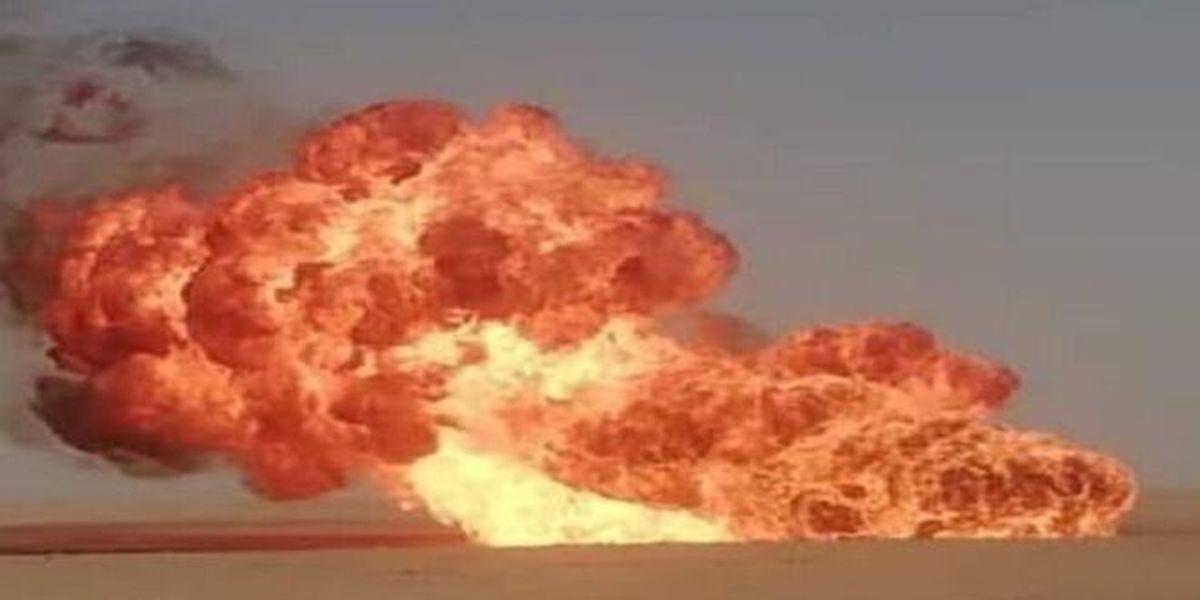 انفجار یک خط لوله گاز در سوریه