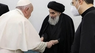 پاپ: آیتالله سیستانی گفت ۱۰ سال است با افراد سیاسی دیدار نمیکند | پیام پاپ برای رئیس جمهور عراق