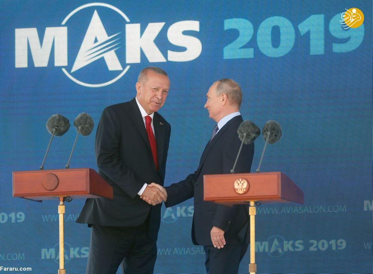 پوتین و اردوغان در نمایشگاه هوافضای ماکس-۲۰۱۹