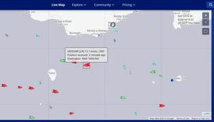 کشتی انگلیسی با پرچم لیبریا از آبهای ایران دور شد