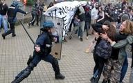 ویدئو؛ پاریس صحنه درگیری پلیس و مردم