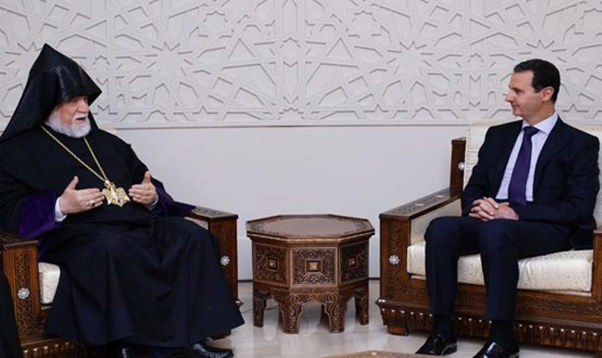اسد نقش ارامنه سوری را در بحران سوریه ستود