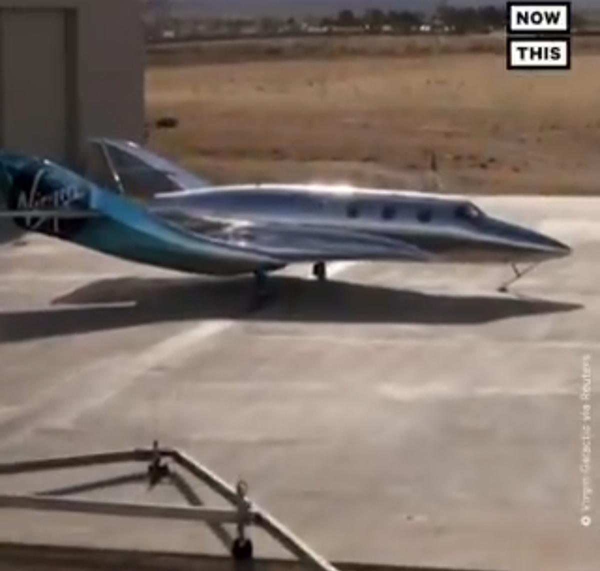 رونمایی از هواپیمای جدید سفرهای فضای + ویدئو