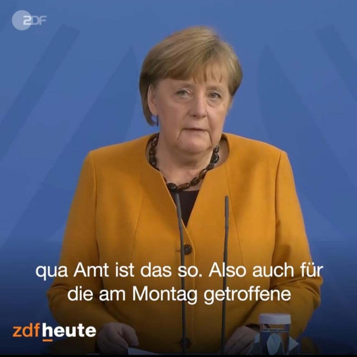 عذرخواهی مرکل از مردم آلمان به دلیل تصمیم اشتباه + ویدئو