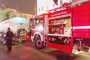 آتش سوزی در یک مجتمع آپارتمانی در قم