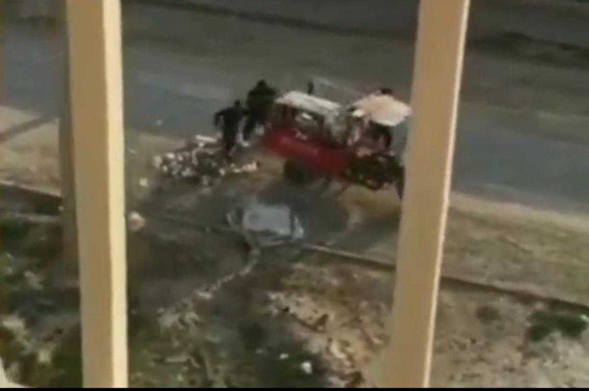 سرقت مخزن زباله در ماهشهر! + ویدئو
