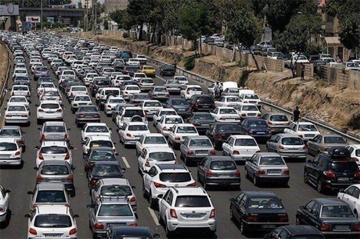 ترافیک سنگین در محور چالوس - کرج  | انسداد هفت جاده