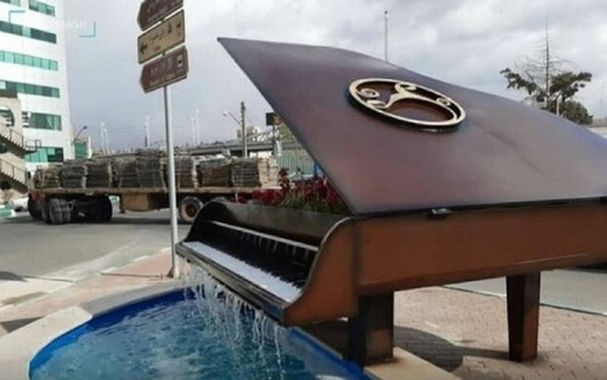چرا المان پیانو در تبریز جمع آوری شد؟| ماجرای برچیده شدن المان پیانو با جرثقیل در شب