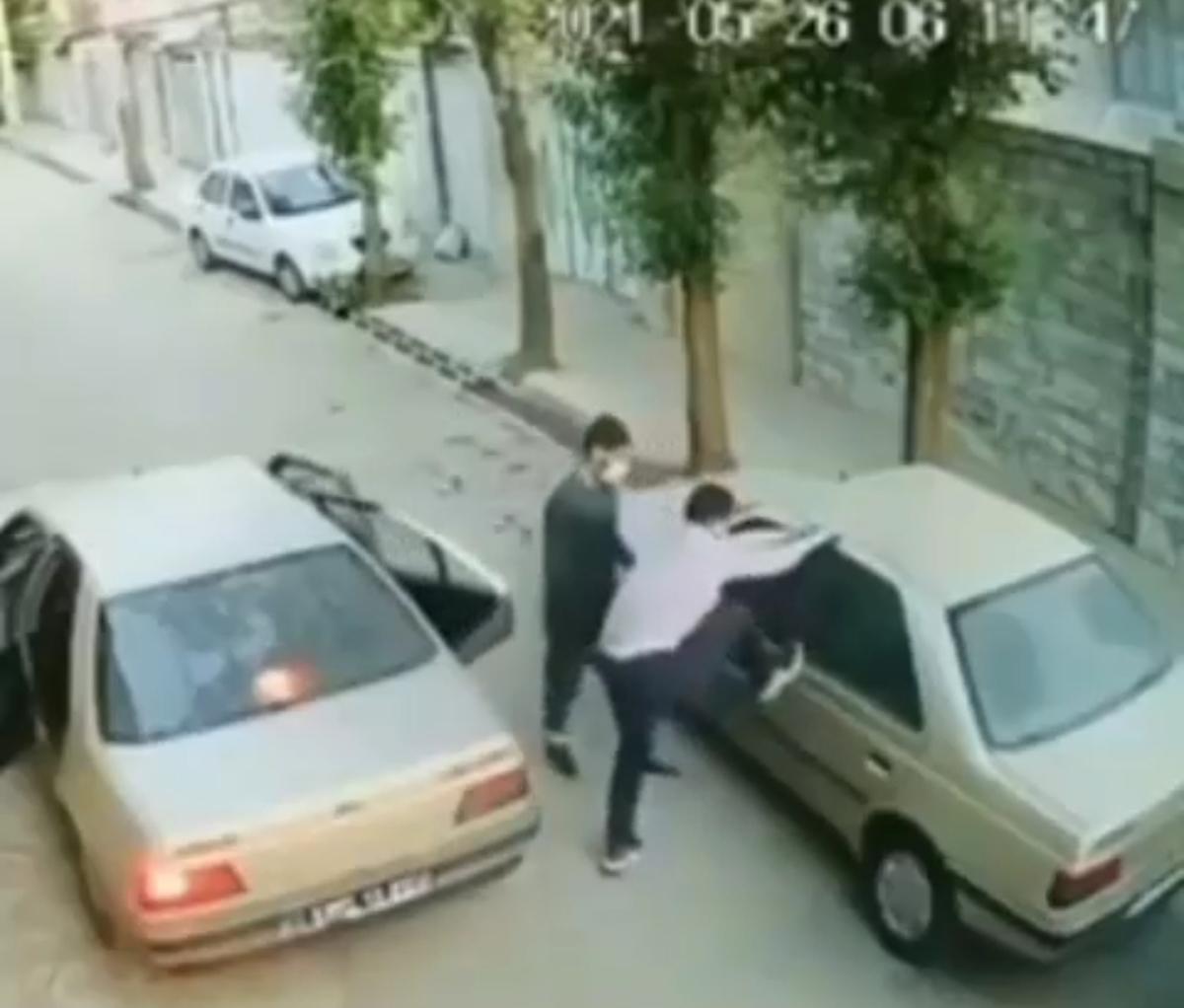 سرقت پژو زیر ۶۰_۷۰ ثانیه در بروجرد + ویدئو