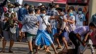 درگیری مخالفان و طرفداران کودتای میانمار