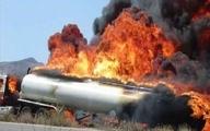 حادثه       تصادف مرگبار تانکر حامل سوخت و تریلی در جاده زیدون