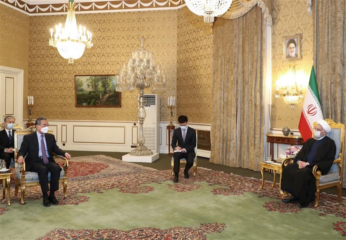 دیدار وزیر امور خارجه چین با روحانی + جزییات