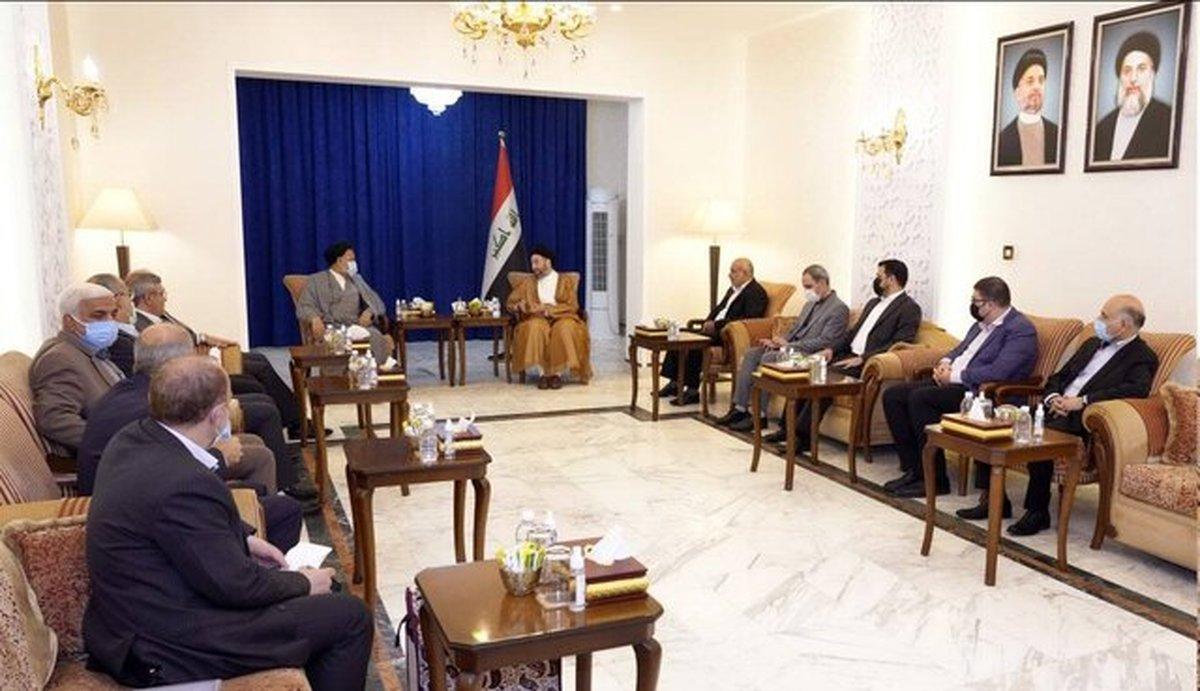 دیدار و رایزنی حکیم و علوی تاکید بر اجرایی کردن توافقات عراق و ایران