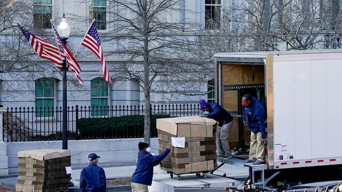ترامپ برای ترک کاخ سفید آماده میشود+عکس