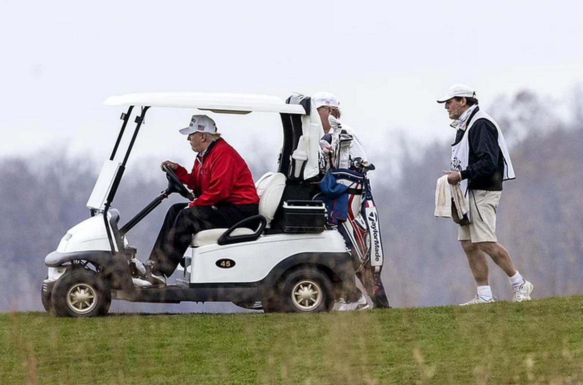 ترجیح ترامپ به گلف بازی به جای حضور در نشست بحران کرونا رهبران گروه 20 (+عکس)
