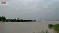 تصاویر مشمئزکننده از ورود فاضلاب به رود کارون + ویدئو