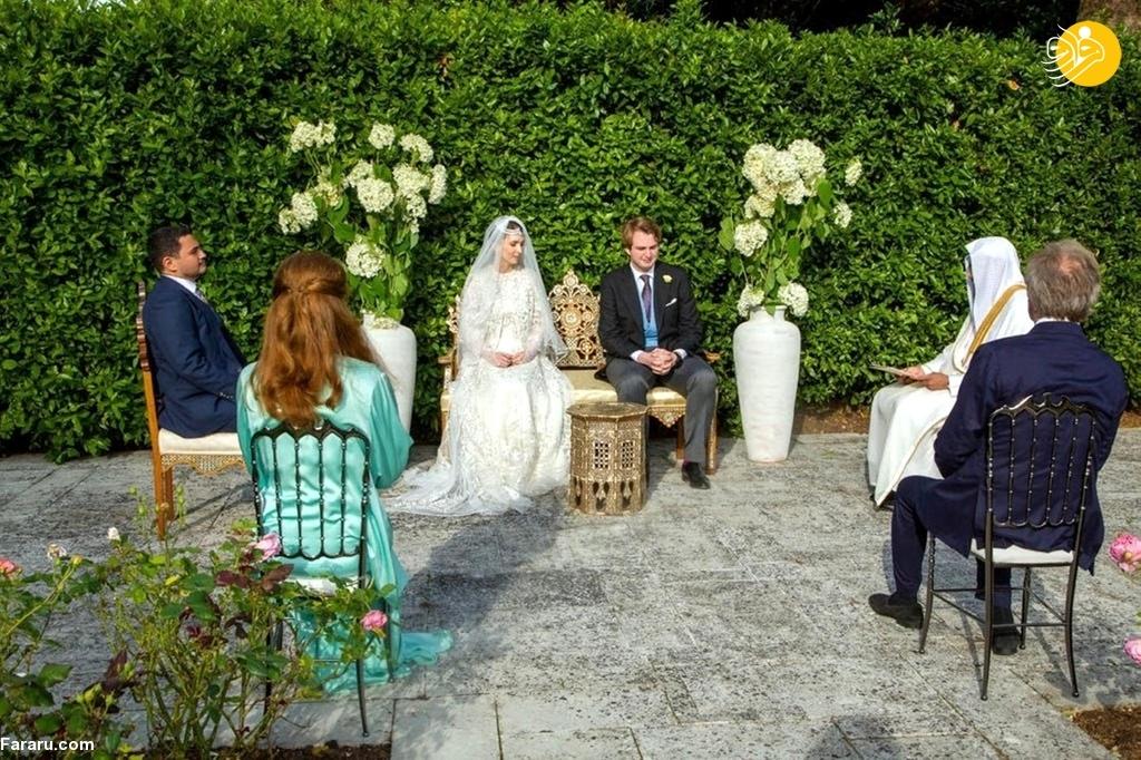 برگزاری مراسم عقد دختر پادشاه سابق اردن +عکس
