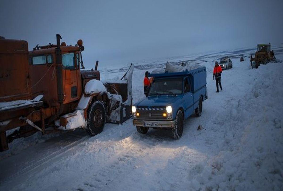 جاده هراز برفی شد