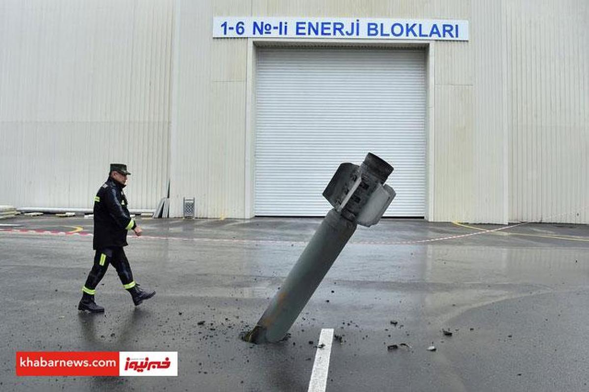 موشک به خیابان اصابت کرد +عکس