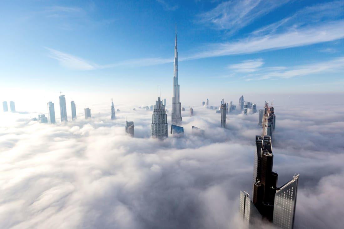 یک عکاس خلاق خط افق همیشه در حال تغییر شهر دبی را در قالب تصاویر ثبت کرد