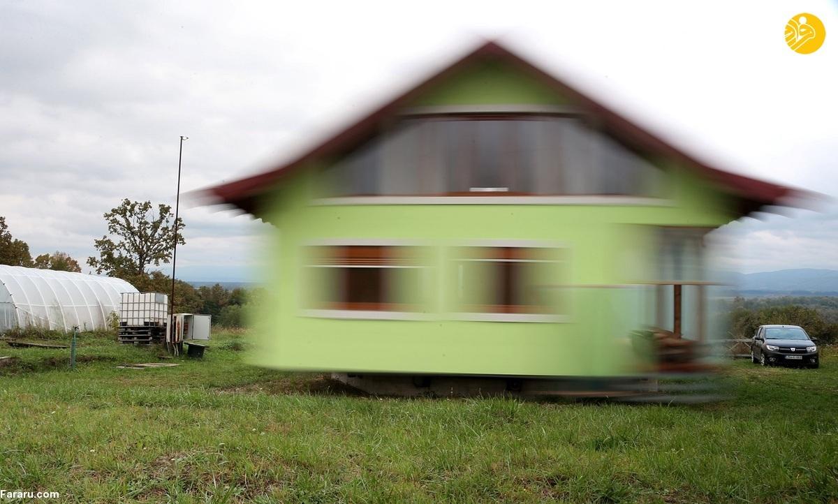 ساخت خانهای چرخان برای همسر + ویدیو