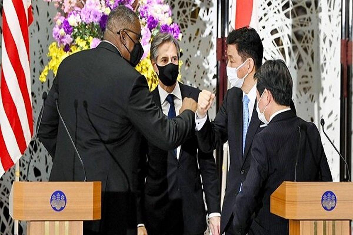 توافق آمریکا و ژاپن درباره همکاری علیه چین