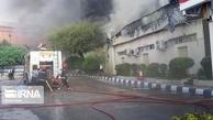آتشسوزی      در شهرک صنعتی مهاباد 500تن کارتن طعمه حریق شد.