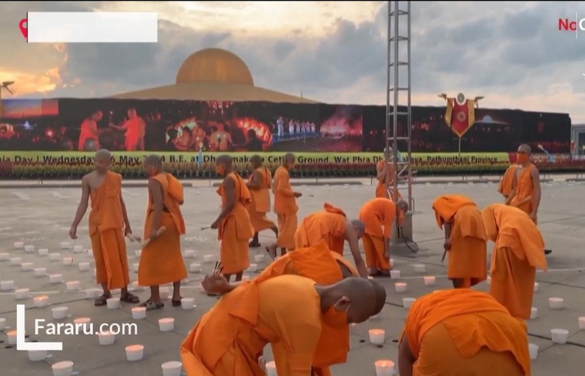 روز ویساکابوچا در تایلند + ویدئو