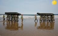 چالش دانش آموزان کره با تفنگداران دریایی
