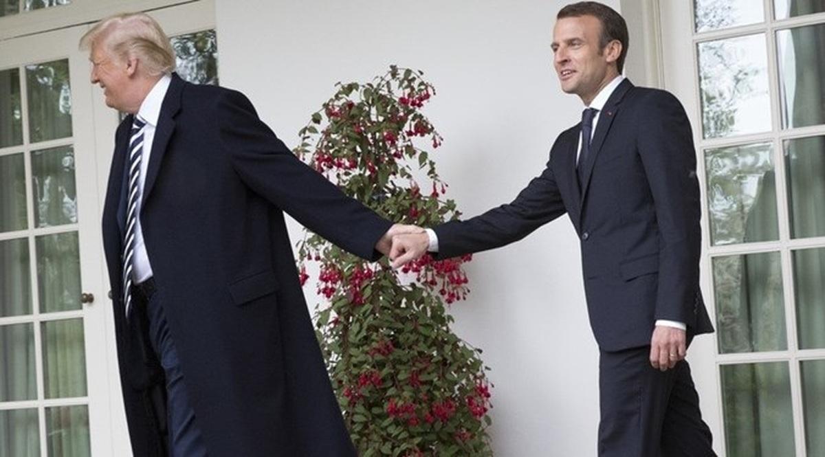 مکرون: هدف مشترک فرانسه و آمریکا دستنیافتن ایران به سلاح اتمی است
