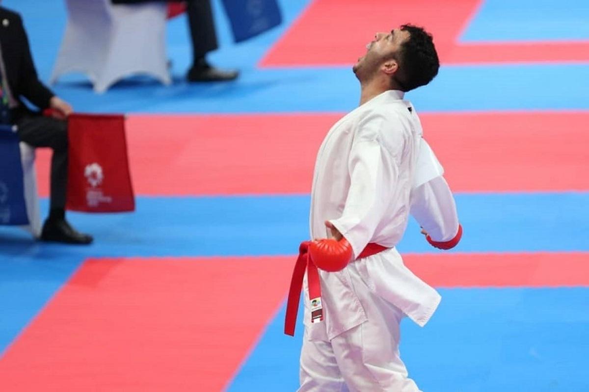 «گنج زاده» به مدال طلای لیگ جهانی کاراته رسید