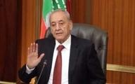 پیام تسلیت رئیس پارلمان لبنان به رهبر و دیگر سران ایران