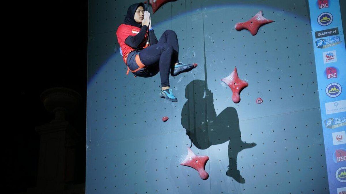 «زن عنکبوتی» رکورد سنگ نوردی سرعت جهان را شکست