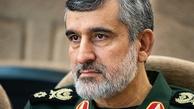 سردار حاجیزاده: ملت ایران از انتقام دست برنخواهد داشت.