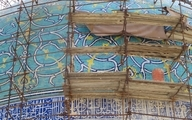 پس از ۹ سال گنبد مسجد امام اصفهان از حصار داربستها خارج میشود